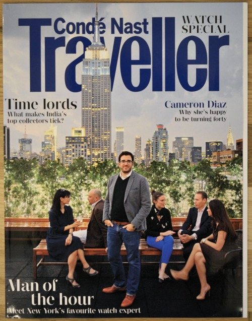 None other than Mr. @benjaminclymer on the cover of this month's @CNtraveller watch supplement.