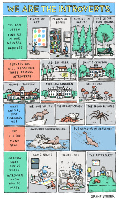 laughingsquid:  We Are the Introverts