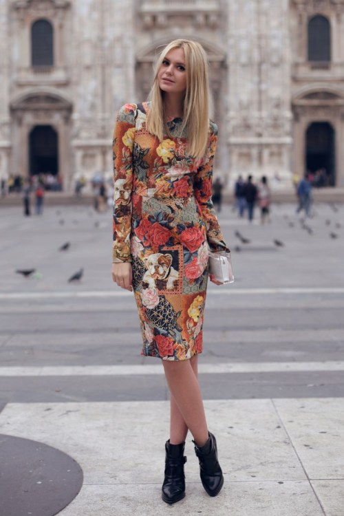 Docle & Gabbana dress, Zara boots [source: tuula]