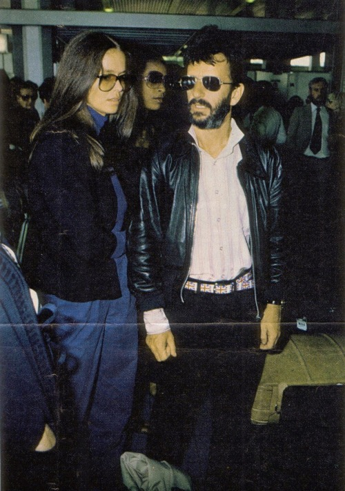 Barbara Bach and Ringo Starr (Doing research on Bond Girls this morning.)
