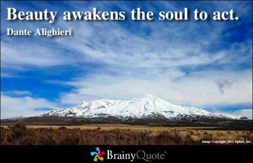 Beauty awakens the soul to act. - Dante Alighieri