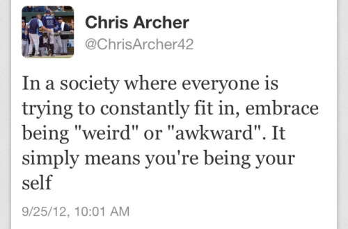 heckyeahevanlongoria:  Pretty sure Chris Archer just indirectly gave tumblr a shout out  It kills me that he spelled yourself wrong though. :sigh: