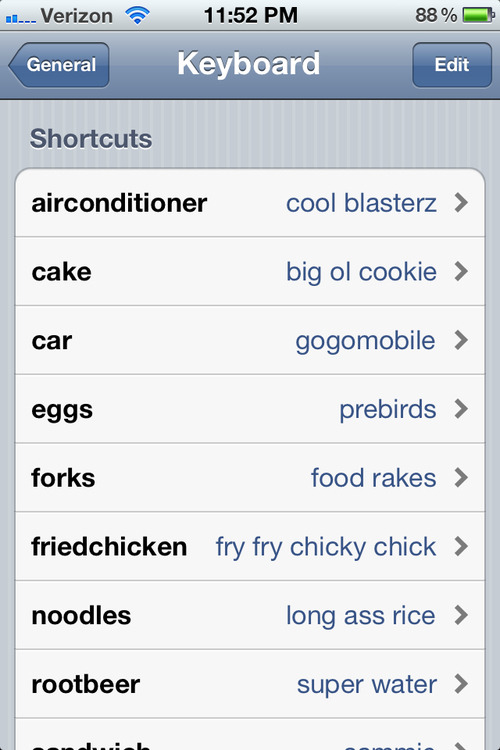 nbcparksandrec:  The shortcuts everyone should have on their phone. stephaniielove:  Lawlz