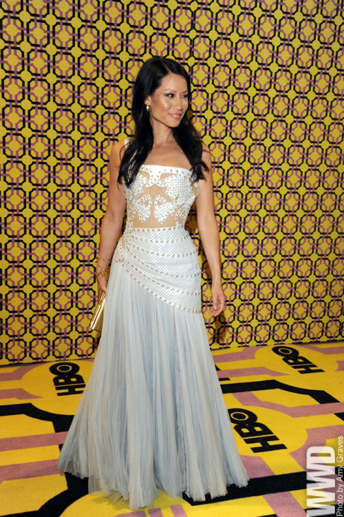Lucy Liu in Versace at  HBO's post-Emmys party.