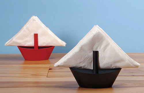 Sailboat Napkin Holders - via @thinkbigchief