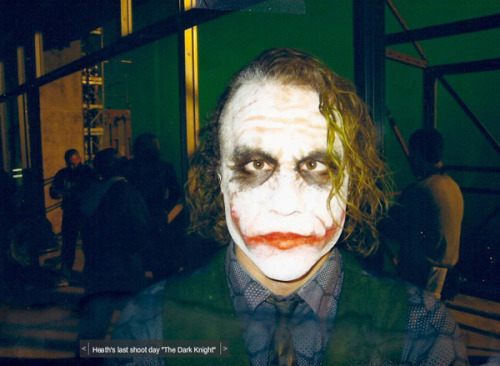 filmbloopers:  last photo of Heath  Heath Ledger/The Joker