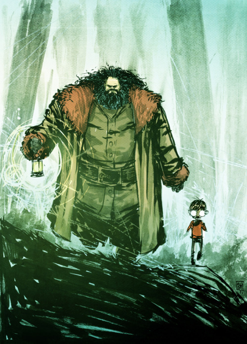 skottieyoung:  Hagrid and Harry