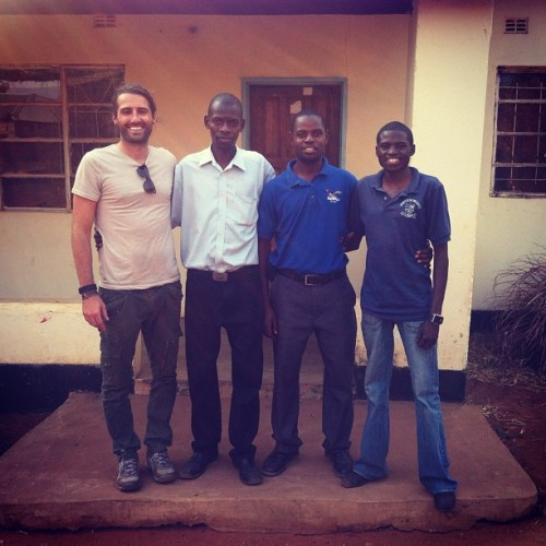New site for Academy of Music Livingstone.  Director Max and teachers Oscar and Jacob.  (Taken with Instagram)