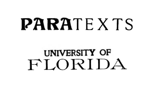 "Dr. Terry Harpold's Paratexts course at the University of Florida will be ""taking a 'virtual' field trip to explore anomalies of Google Books that reveal the mutability of the paratext in the late age of print,"" and curating their discoveries in a course wiki.  I can't wait to see what you find!"