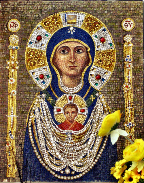 Mary in Mosaic - Venice, Italy