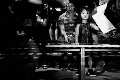 Double Exposure: Aila Wang at Alexander Wang. September 2012 © Elizabeth Griffin