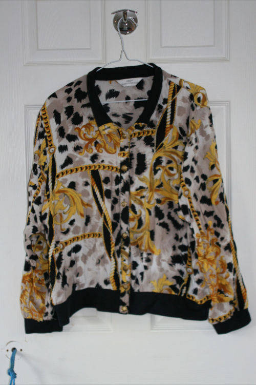 FOR SALE VINTAGE SCARF PRINT TOP UK SIZE S