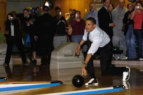 When Barack Obama bowls, he bowls to win. The Presidential Sports Scorecard revealed.
