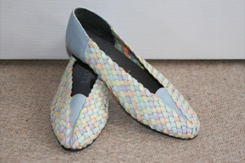 FOR SALE VINTAGE PASTEL PUMPS UK SIZE 3-4