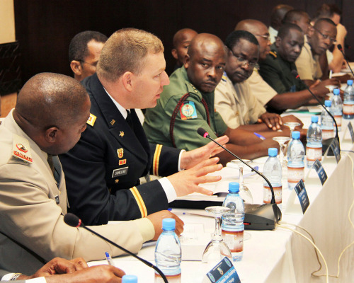crisisgroup:  Mali: UN to Debate Military Intervention | allAfrica Diplomatic efforts to ease the crisis in Mali are being stepped up at the United Nations this week, against the backdrop of warnings that the situation in the country will deteriorate if action is not taken by the end of the month. A high-level meeting on the Sahel region is scheduled to take place as world leaders gather in New York for the opening sessions of the UN General Assembly in New York. FULL ARTICLE (allAfrica) Photo: U.S. Army Africa/Flickr