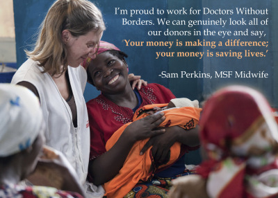 Photo: Sam Perkins, MSF midwife, in the Masisi conflict zone in Democratic Republic of Congo. DRC 2011 © Yasuyoshi Chiba  Caring for Women Trapped by Violence