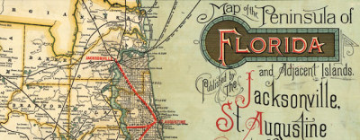 Map: Railroad map of Florida (1893) originally posted to the BIG Map Blog.