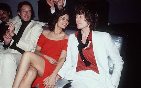 Halston, Bianca and Mick Jagger at Studio 54