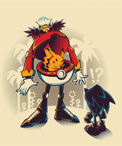 victorvercesi:  Dr Pikabotnik… gotta crush 'em all! :D Prints and apparel available at Society6 > FREE shipping thru Sunday, worldwide!