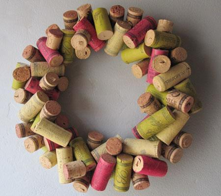 Put all those leftover wine corks to good use with a creative and adorable wreath like this one. Check out some more of our favorite DIY ideas for Autumn wreaths here.