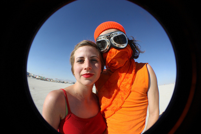 Red & Orange, aka The Cosgroves at Burning Man 2012 © Diana Kathleen Bradbury