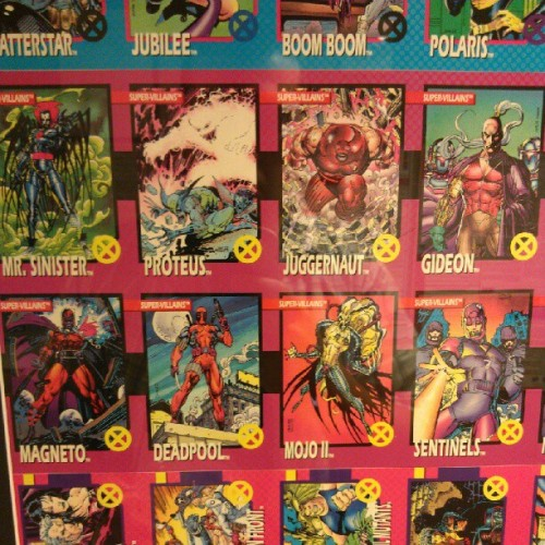 Some classic #XMen trading cards at @Marvel HQ. Art by @jimlee. I LOVE GIDEON SO MUCH. #comics #art #illustration (Taken with Instagram)