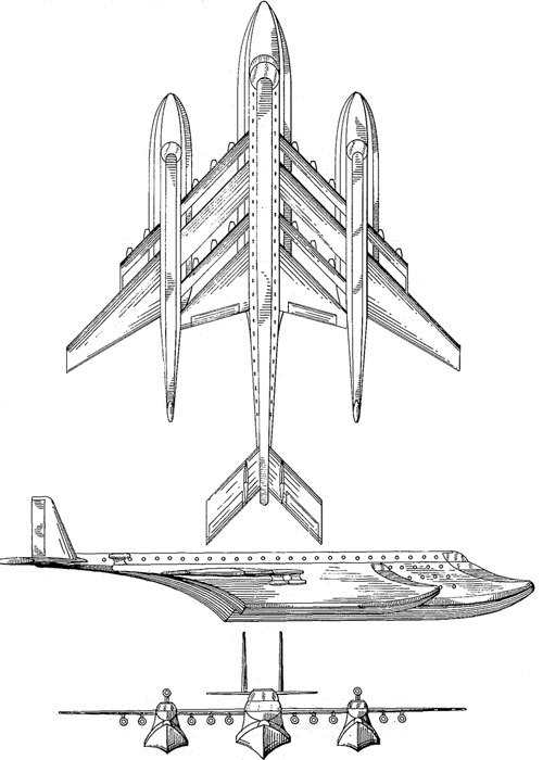 FLYING BOAT Paul P. De Asis et al Patent number: D211612 Filing date: Jun 9, 1967