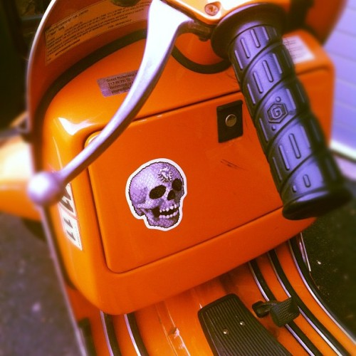 supersonicelectronic:  Supersonic Electronic Skull Stickers, on sale now.
