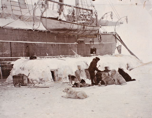 Hundehus av is, 1894 by National Library of Norway on Flickr.