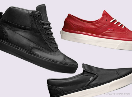 "Vans California - Brogue Pack Vans classing things up with this Brogue Pack. some great leather uppers with Brogue detailing.  click here for more pics Related articles Vans California Era ""Brogue"" (sneakernews.com)"