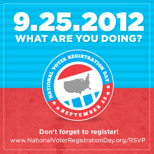 barackobama:  It's National Voter Registration Day, and literally everyone you know who's cool is registering to vote. Literally everyone. We are sure of this. It takes five minutes! Do it now!