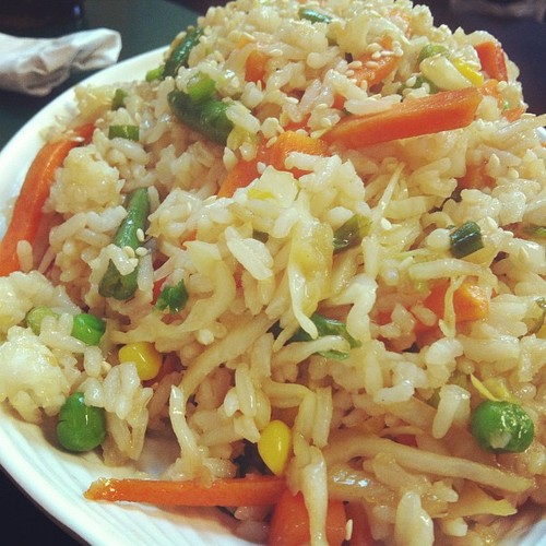 Golden rice #vegan  (Taken with Instagram at Veggie Heaven)