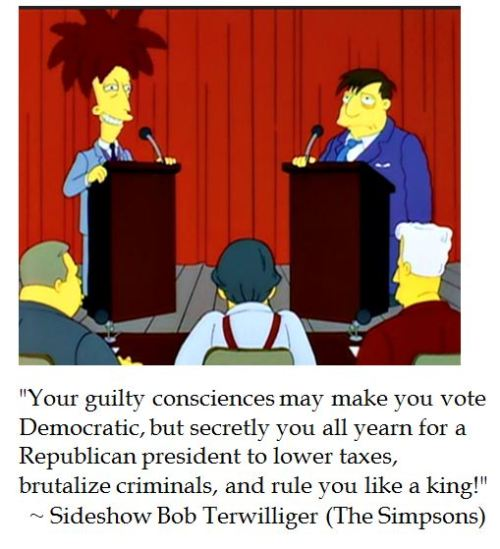 Sideshow Bob Terwilliger (from the Simpsons) on Politics
