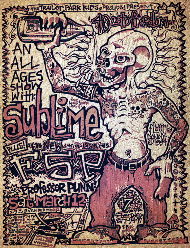 Re-imagined flyer, circa 1994. Original art was by Danny Breeden (of F.S.P.).