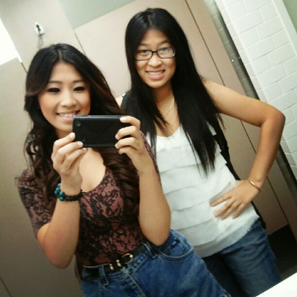 lindaho94:  At Fresno State with the best friend! :) (Taken with Instagram)