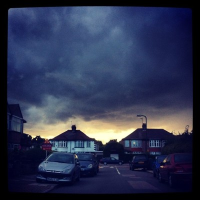 The end of the world as we know it in #london #weather #clouds #world (Taken with Instagram)