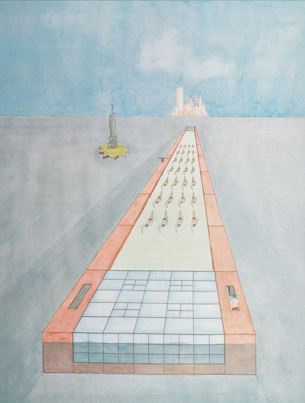 Rem Koolhaas : Delirious New York Arrival of The Floating Pool 1977
