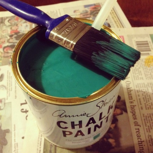 Trying out a new colour #anniesloan #paintedfurniture  (Taken with Instagram)
