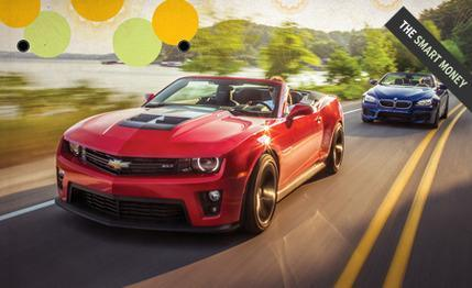 Underdog Comparison Test: 2013 Chevrolet Camaro ZL1 Convertible vs. 2012 BMW M6 Convertible via Car and Driver