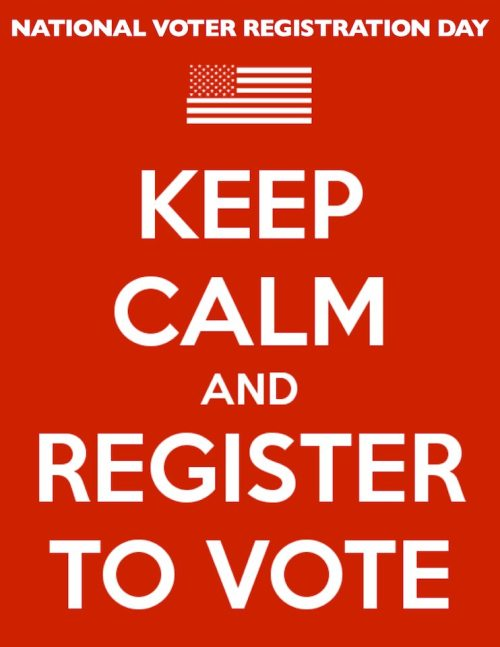 dddmagazine:  TODAY IS NATIONAL REGISTAR TO VOTE DAY. USE YOUR VOICE. VOTE. EVERY VOTE COUNTS. (and remember, many people shed blood, went to jail, and even died for your right to do so, please vote). Register here.