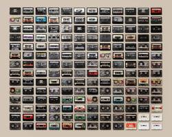 thingsorganizedneatly:  SUBMISSION: Cassette Tapes by Jim Golden. Also see VHS Tapes.