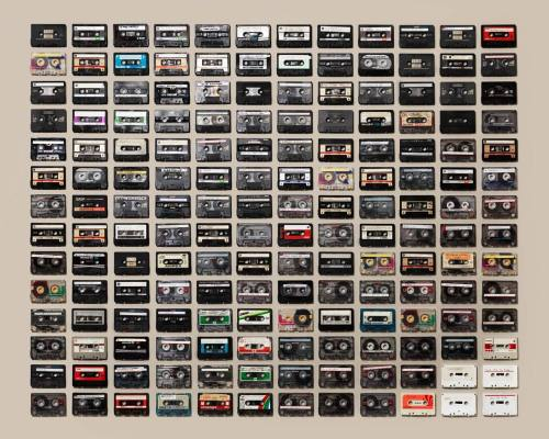 thingsorganizedneatly:  SUBMISSION: Cassette Tapes by Jim Golden. Also seeVHS Tapes.