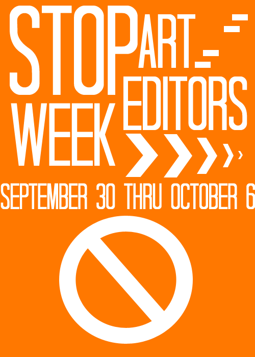 "deidiva:  > > > STOP ART-EDITORS WEEK < < <  [september 30th - october 6th] The beginning week of October will be dedicated to raising awareness about art editing and the results it has on artists and the artist community.  <———————————————————————————————-> WHY ART EDITING IS BAD:  To give a brief definition, editing art is taking another person's hard work and tweaking it to please the editor, to make it 'more interesting'. Artists spend SO much time on their work, making it exactly fit their artistic vision, and when they're ready to share their work with the world, people think it's okay to take their hard work, spend two minutes 'fixing' it up in photoshop and get credit for it. Because that's what art editing is— editing another person's artwork and recieving credit and praise for it. Think about the real artist's feelings before you even think about editing.  Most editors get their work from pivix, a japanese art website. So with the obvious language difference, editors are unable to ask permission to edit work in the first place. So if you don't have permission, nor are you able to ask for it, why would you think it's okay to edit and post another persons art?  Another point is that pixiv artists aren't dumb. A lot of them know what tumblr is. Hell, even some of them have tumblr blogs. They don't miss what you're doing to their work, and that is why a lot of them take down their work and some of them never post their art again, which is a shame to lose great artists over something so stupid.  Think of it like this— say I went downtown to New Orleans, down to the French Quarter where many artists line up on the street to display their art. Now an art editor comes around and takes a painting from one of the vendors and pulls it aside, whipping out their paintbrush and adding their own little details. The vendor watches in horror as the editor places it back, shrugging off the vendor. ""It looks better doesn't it?"" Don't say it's not the same thing because it is.  Art you find on the internet does not belong to you. Unless you are the original poster, you have no right to take and edit another person's work. It does NOT and will NEVER belong to you. Just because it is easier to access on the computer does not mean it is not as valuable as tangible art. What this all boils down to is respect.  <———————————————————————————————-> SOME COMMON EXCUSES:  'I can't draw, this is my way of expressing myself artistically!'  Learn how to draw! Drawing takes time, hard work and practice. And if you're still not finding that drawing is your thing, and hey, maybe you enjoy editing images! If you really want to edit, try editing official work. This art is made to be mass produced, and the artists are aware of this. Another alternative is stock photos— deviantART, for example, has plenty of stock photos for you to use! That's what they're there for! 'We're celebrating the artist by making tributes to their work!' No. You're butchering their hard work and effort by cropping, adding saturation and uneccesary textures. Ask permission, and if they say yes ( which is very rare ), then you have the green light to do so! Permission is key here.  'But we provide sources!'  That's not the point. The point is that editing art without permission is wrong and dumb, and it goes against most artist wishes. Crediting them does not suddenly make it a-ok for you to edit their work. <———————————————————————————————-> SOURCING ART: ZEROCHAN IS NEVER A SOURCE. NEITHER IS WEHEARTIT. NEITHER IS PHOTOBUCKET. Stop linking art there. The internet is really handy for these kinds of things, and thats what reverse google image search and websites like SAUCENAO are for! When in doubt, keep it out.  <———————————————————————————————-> Don't let editors think that what they are doing is acceptable. Here's what you can do to help stop this: 1) DON'T REBLOG EDITS!!!!!!!!!!!!!  I  LITERALLY CANNOT STRESS THIS ENOUGH. If you like the picture, repost it as original with source to actual ARTIST. We need to stop supporting editors. 2) If you know someone who edits, kindly inform them or link them to this post. Speaking up about this is essential. If you don't let them know what they are doing is terrible, they will NOT stop.  <———————————————————————————————-> THANK YOU FOR READING and reblog to spread the word!"