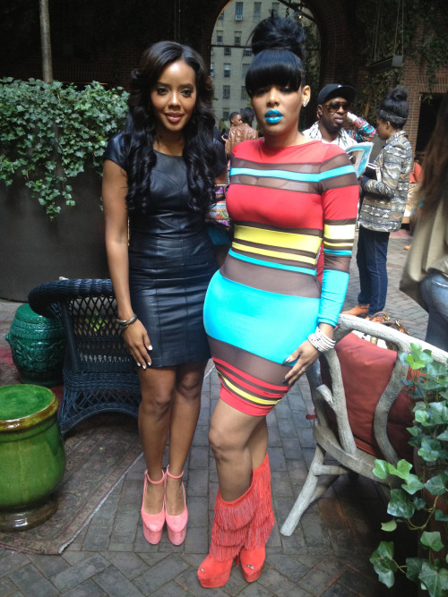 kaoir:  Angela Simmons & Keyshia Ka'oir at New York Fashion Week