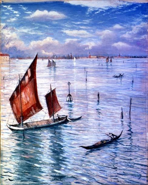 Christopher Nevinson, n.d, Venice from the Lido