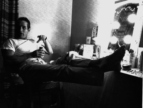 Paul Newman, 1964, backstage in the Broadway production Baby Want A Kiss