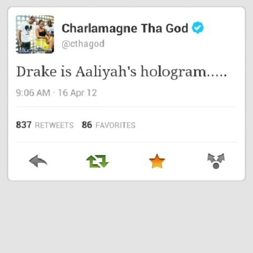 #CthaGod is so stupid lol #ThrowbackTweets. (Taken with Instagram)