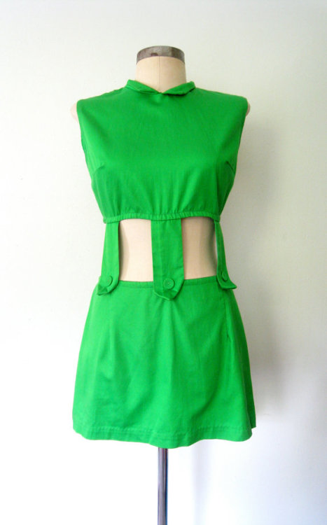 The shop is pining for the 1960s. Starting with this little green mini Go-Go number! Shop Lola!   xo