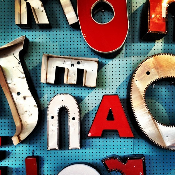 Vintage signage letters all the #design rage (Taken with Instagram)