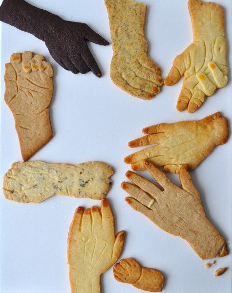 Hand Cookies Stop eating yourself. Stop eating yourself.
